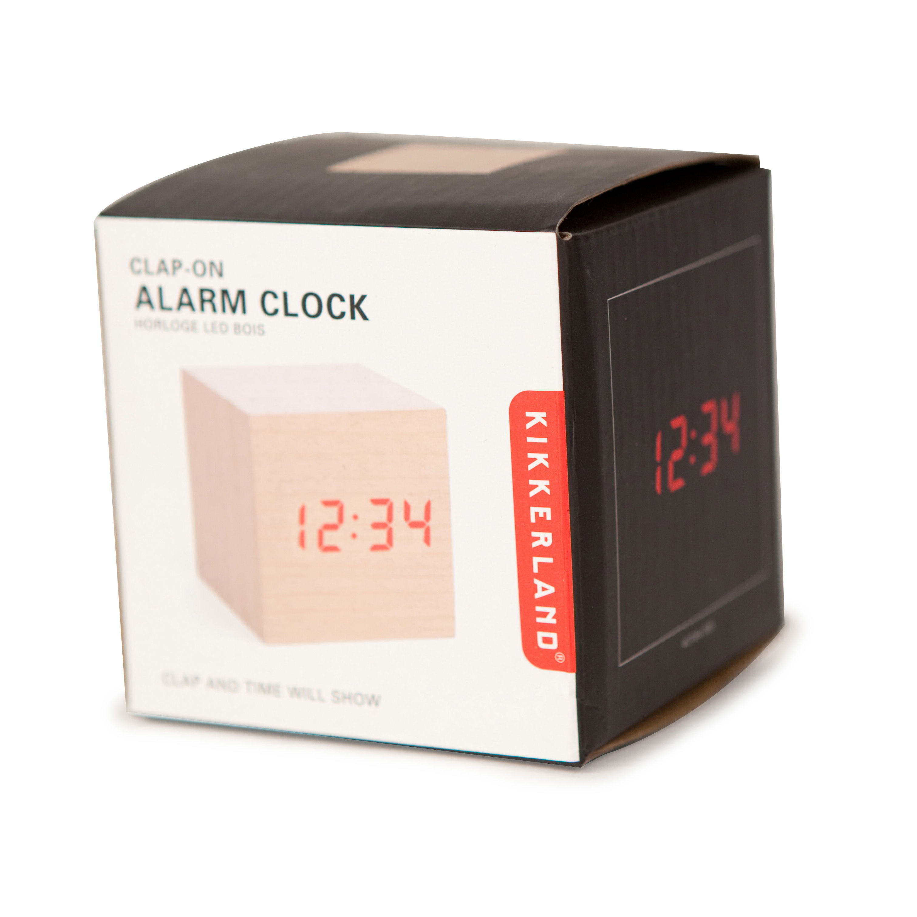 Wood Cube Alarm Clock White By Kikkerland Made In Design Uk
