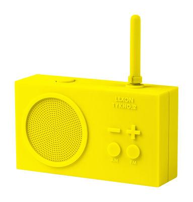 Radio sans fil Tykho 2 Rechargeable USB Lexon jaune en matière plastique