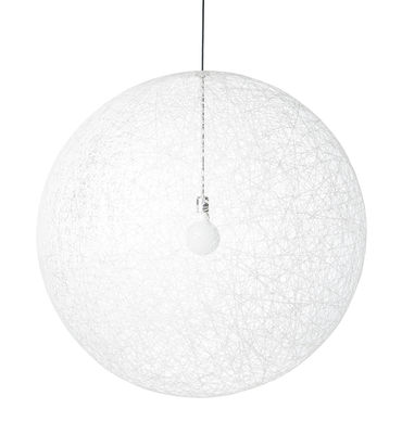 Suspension Random Light LED / Medium - Ø 80 cm - Moooi blanc en matière plastique