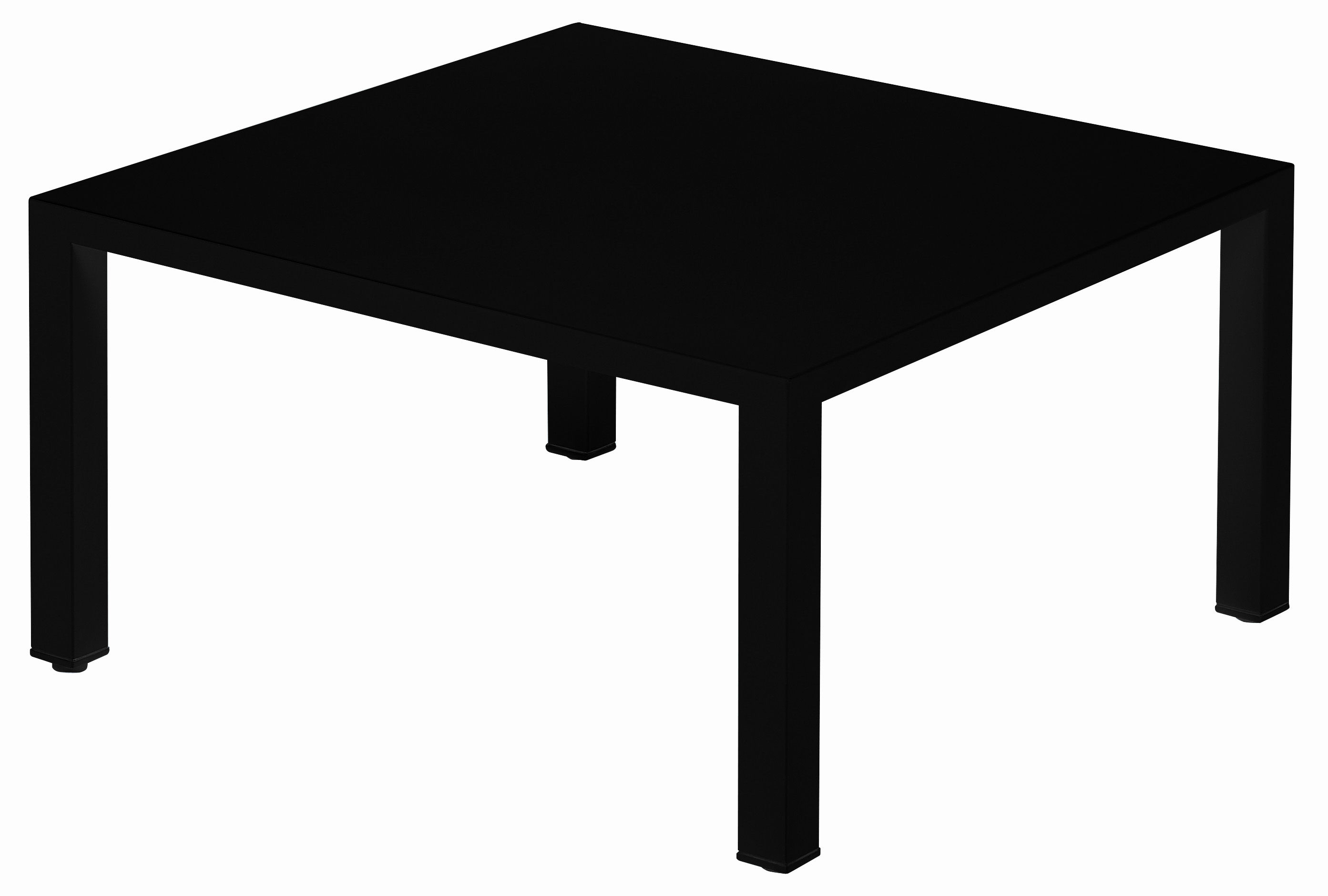 Table basse round m tal 80 x 80 cm noir emu for Table 80 x 80
