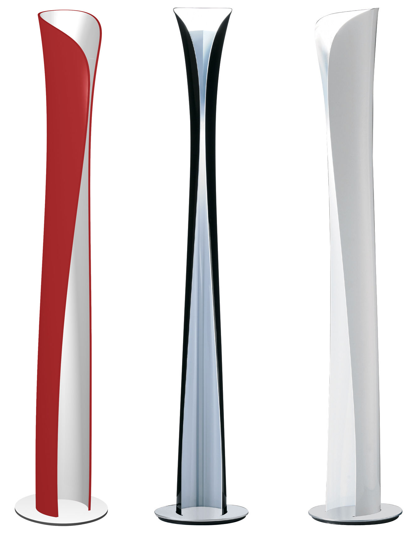 Lampadaire Cadmo Noir Int 233 Rieur Blanc Artemide