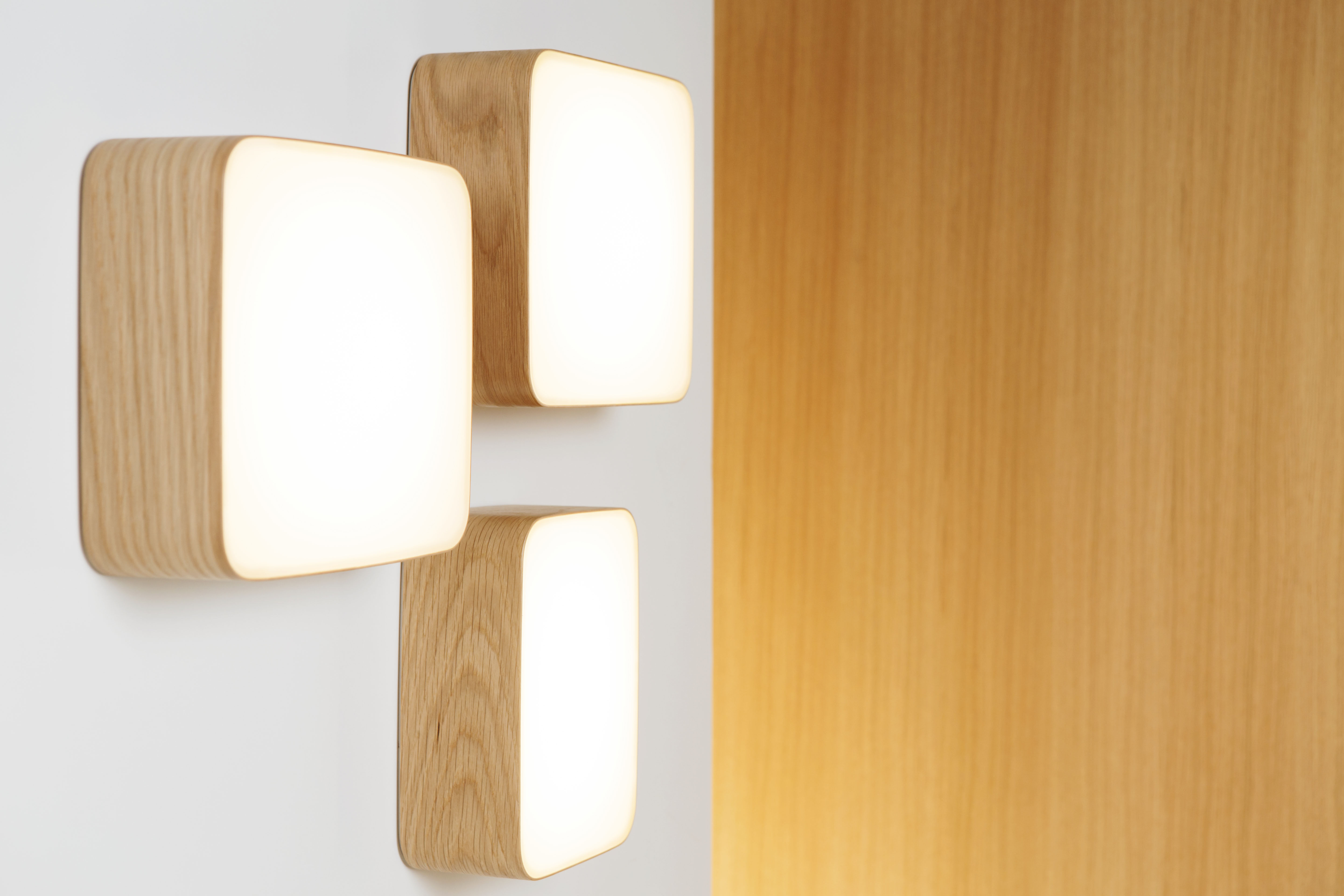 Cube small wall light 16 x 22 cm oak by tunto made in design uk aloadofball Gallery