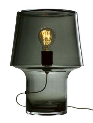 Luminaire - Lampes de table - Lampe de table Cosy in Grey / Verre - H 32 cm - Muuto - Gris transparent - PVC, Verre