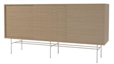 Buffet Case / L 151 cm - 2 portes + 3 tiroirs - Bolia blanc,chêne blanchi en bois
