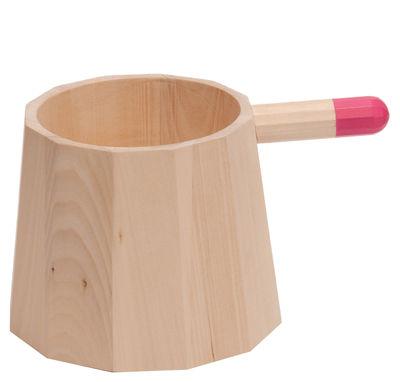 Pot Perrette Moyenne H 17 cm - Y´a pas le feu au lac rose en bois