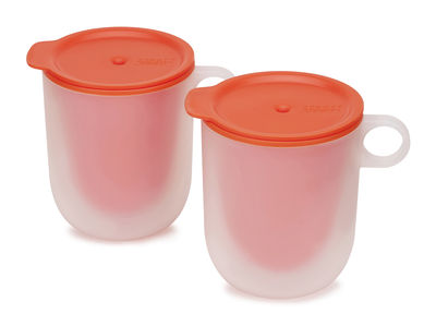 Arts de la table - Thé et café - Tasse M-Cuisine / Lot de 2 - Parois froides - Joseph Joseph - Orange - Polypropylène