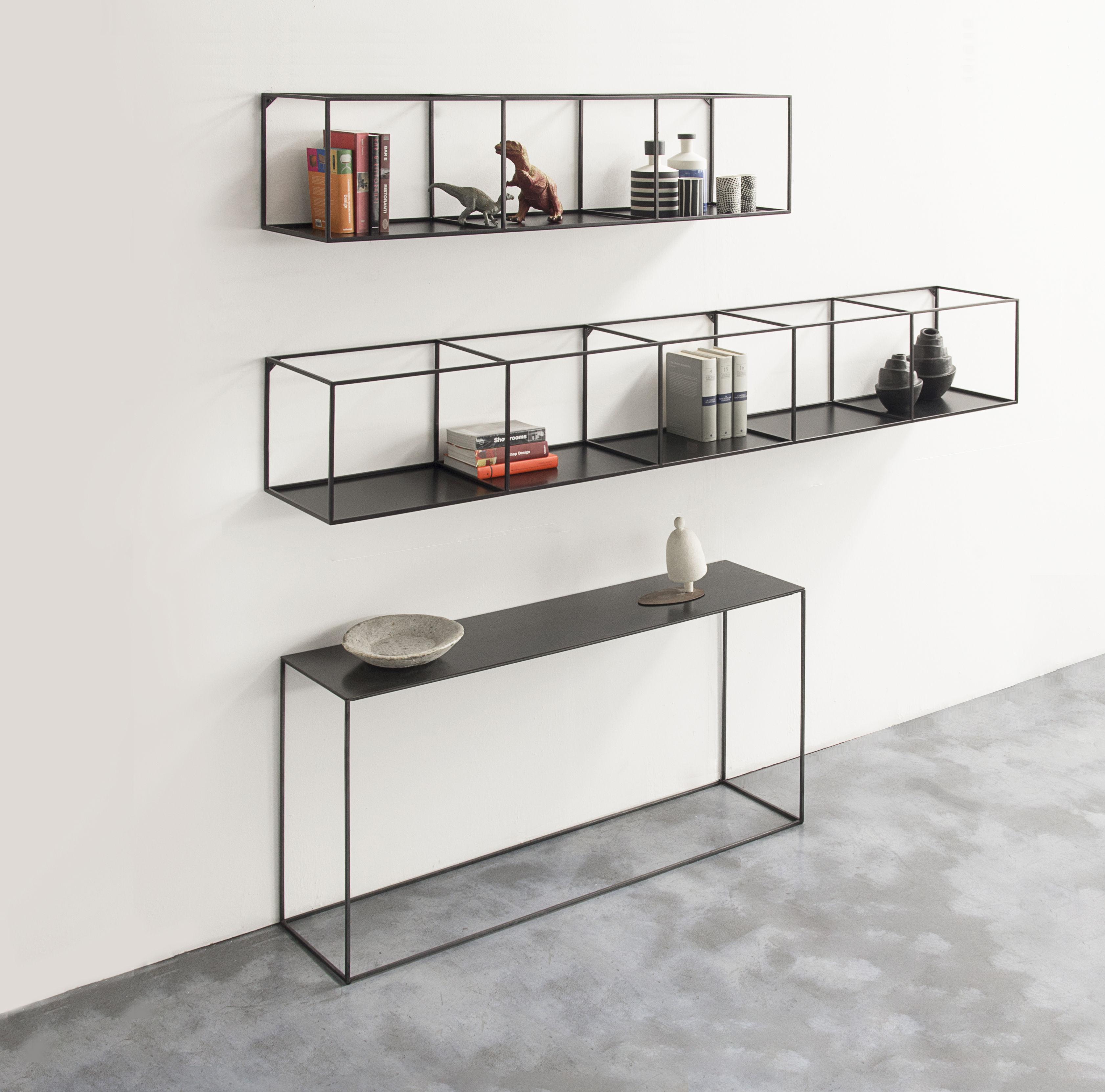 etag re slim irony l 124 cm noir cuivr zeus. Black Bedroom Furniture Sets. Home Design Ideas