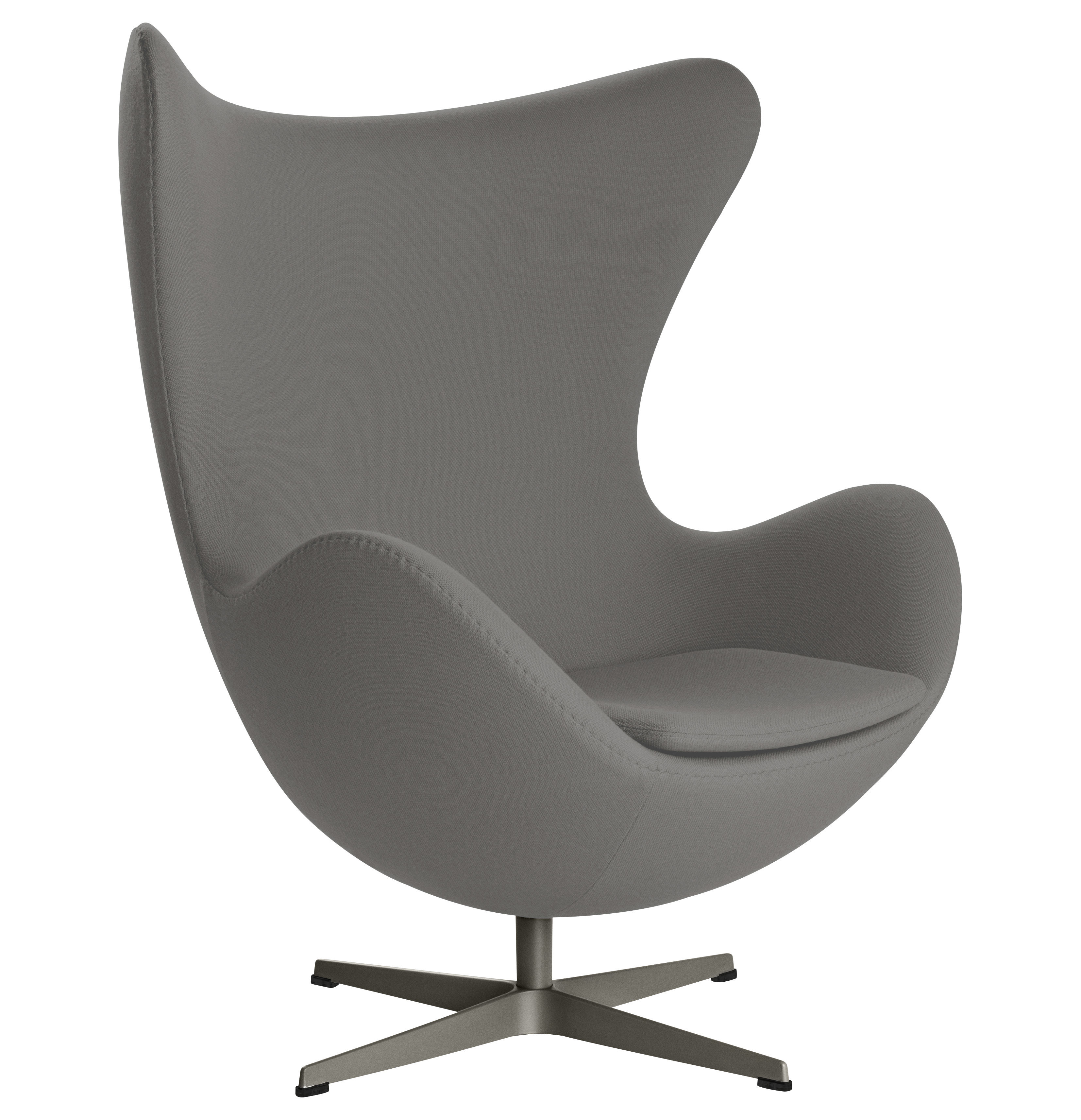 egg chair swivel armchair gabriele fame fabric dark grey by fritz hansen. Black Bedroom Furniture Sets. Home Design Ideas