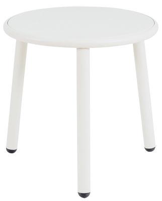 Tavolino Yard - / Ø 50 cm di Emu - Bianco - Metallo