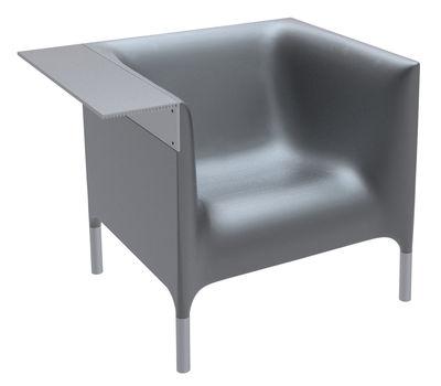Mobilier - Fauteuils - Fauteuil Out-In - Driade - Noir anthracite - Aluminium anodisé, Polyéthylène