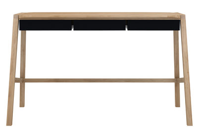 Bureau verso l 127 cm chêne & métal métal noir chêne