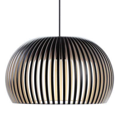 Suspension Atto LED / Ø 34 cm - Secto Design noir en bois