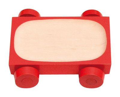 Plat Kart - K01 / 12 x 8 cm - Y´a pas le feu au lac rouge en bois