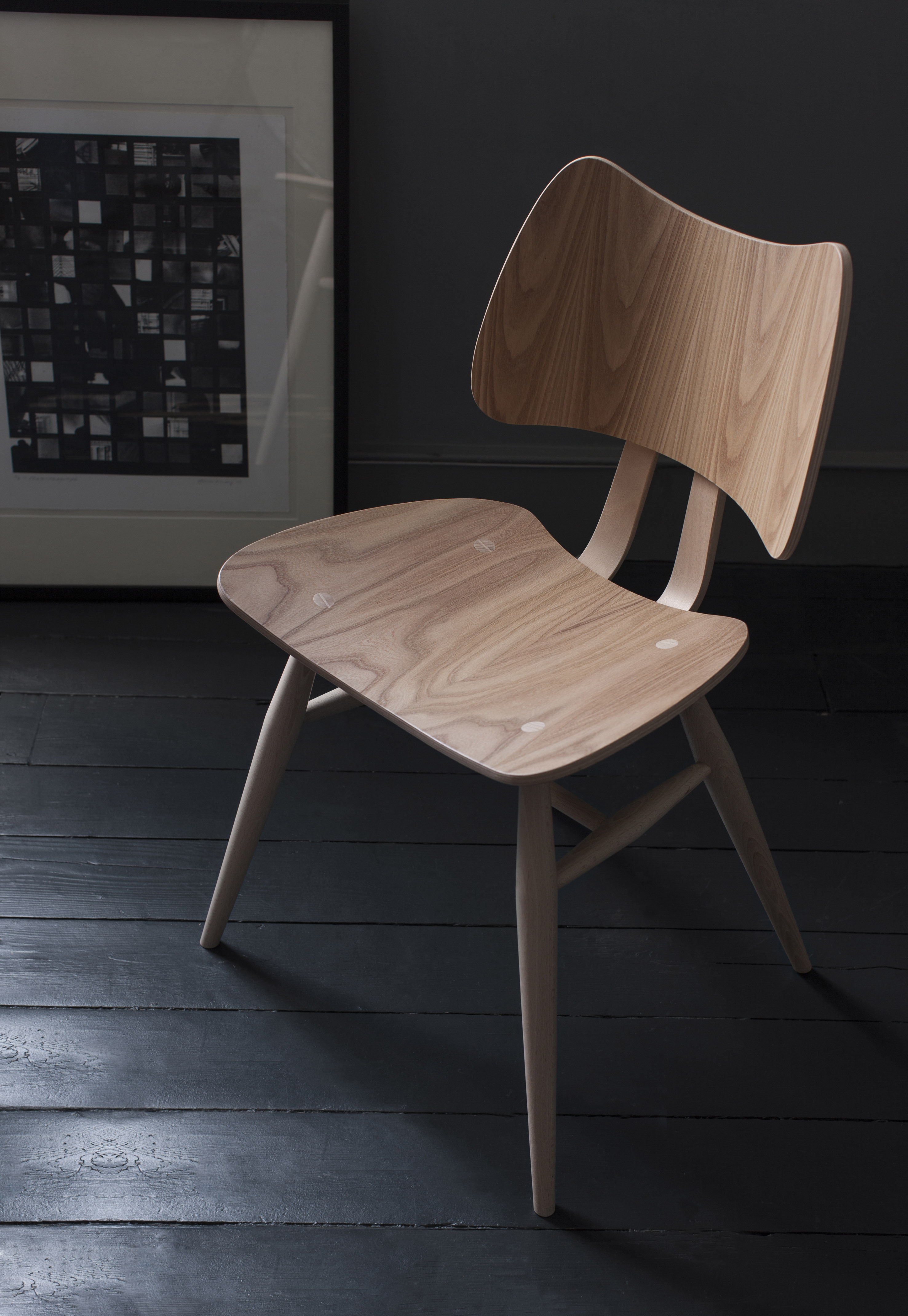 chaise butterfly bois r dition 1958 bois naturel ercol. Black Bedroom Furniture Sets. Home Design Ideas