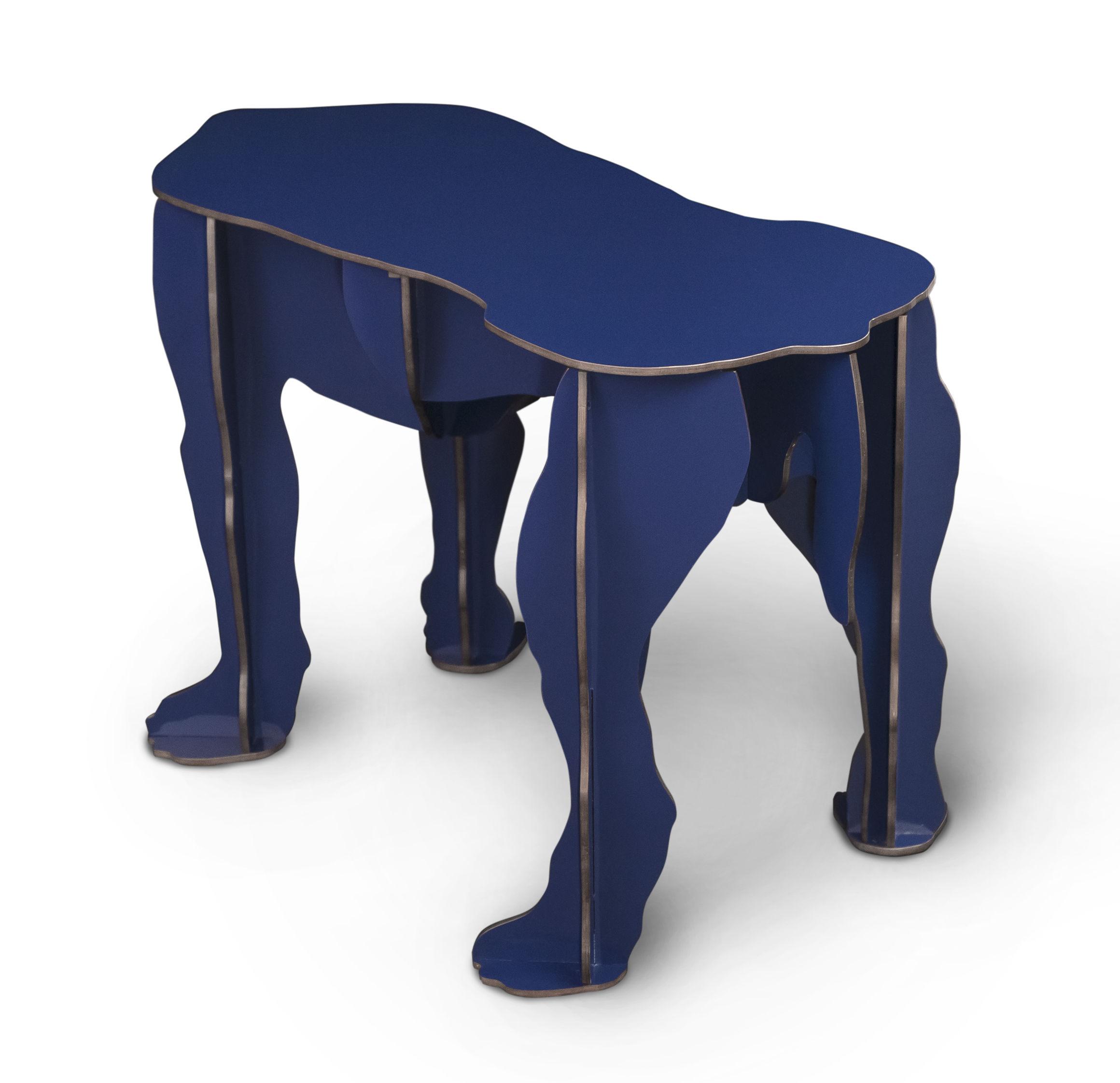 banc rex table basse plastique bleu brillant ibride. Black Bedroom Furniture Sets. Home Design Ideas