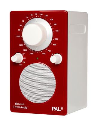 Radio Pal BT Enceinte portative Bluetooth Tivoli Audio blanc,rouge brillant en matière plastique