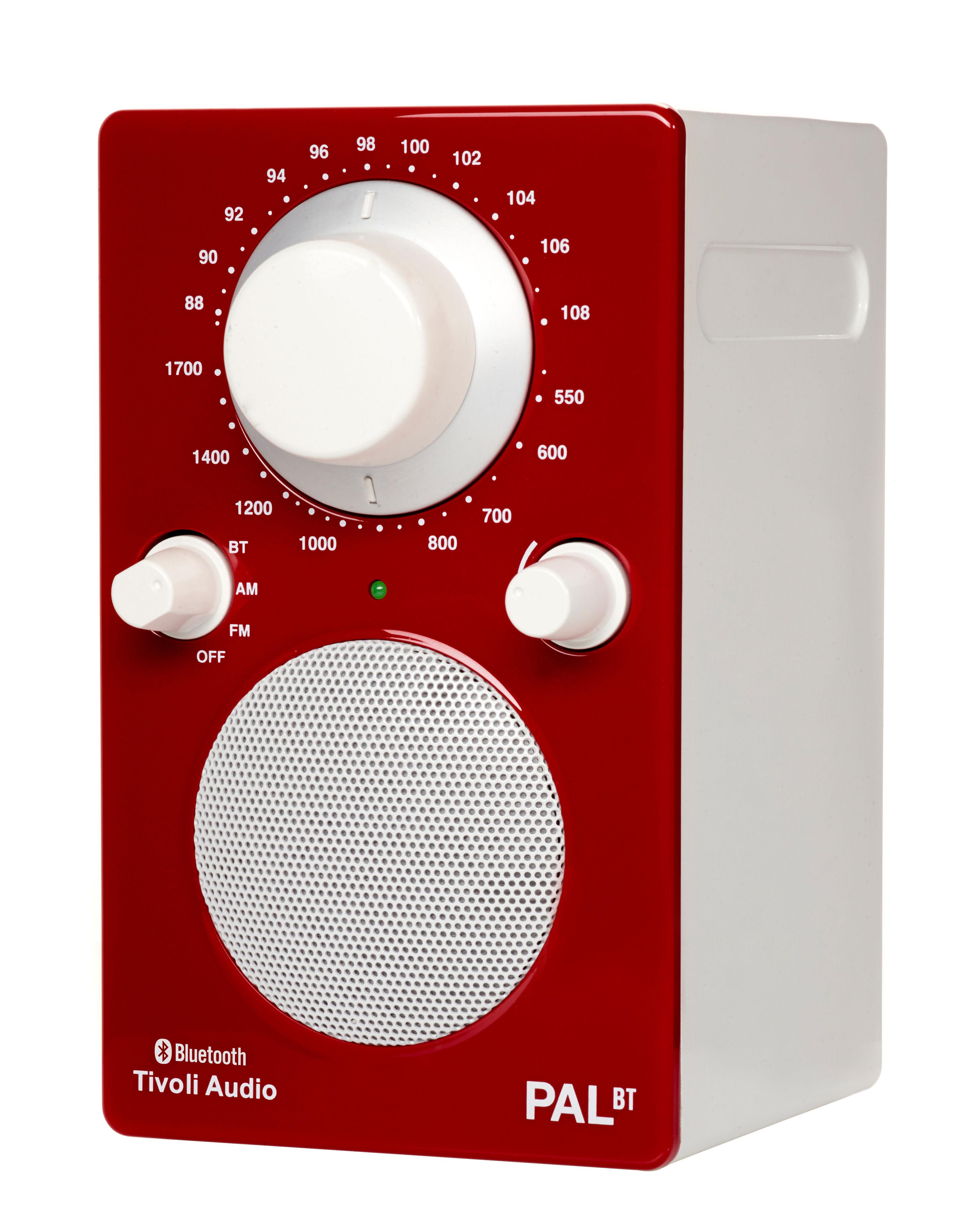radio pal bt enceinte portative bluetooth rouge blanc tivoli audio. Black Bedroom Furniture Sets. Home Design Ideas