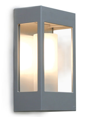 Luminaire - Appliques - Applique Brick - Roger Pradier - Gris métal - Aluminium, PMMA, Verre