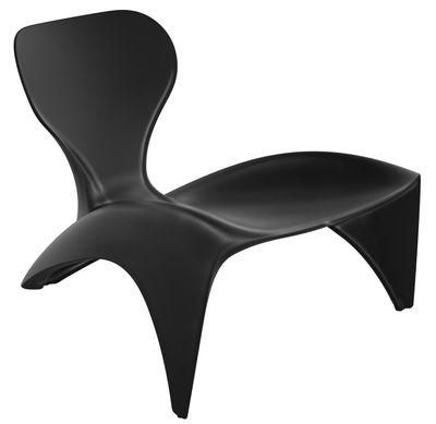 Poltrona bassa Isetta di Slide - Laccato nero - Materiale plastico