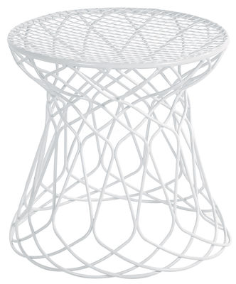 Furniture - Poufs - Re-trouvé Pouf by Emu - White - Steel