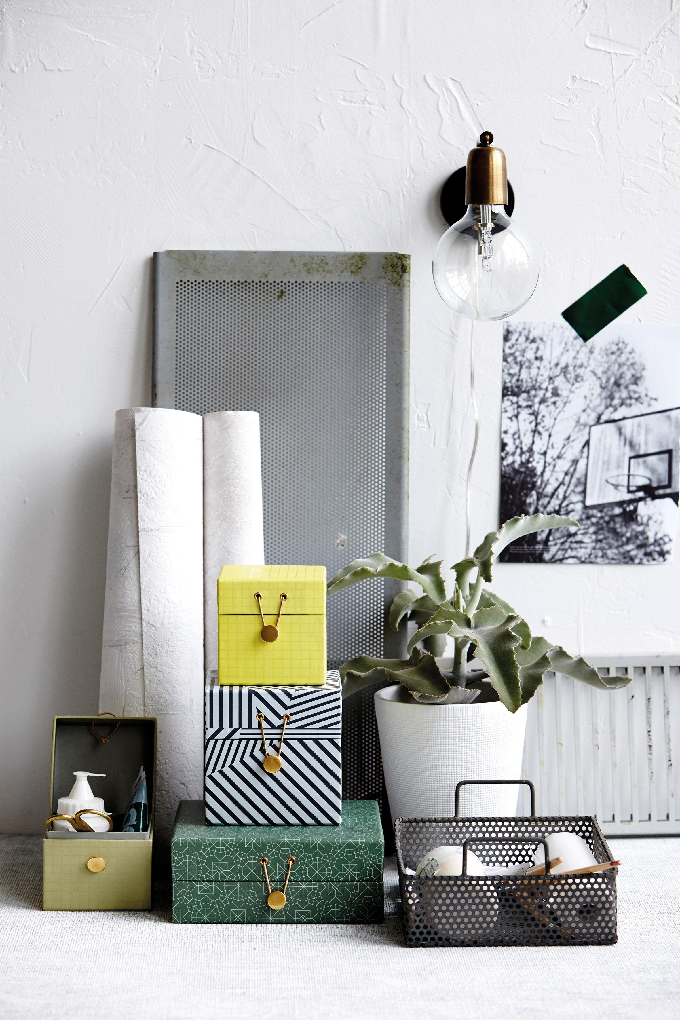 bo te the artwork large set de 2 vert tr s clair bleu house doctor. Black Bedroom Furniture Sets. Home Design Ideas