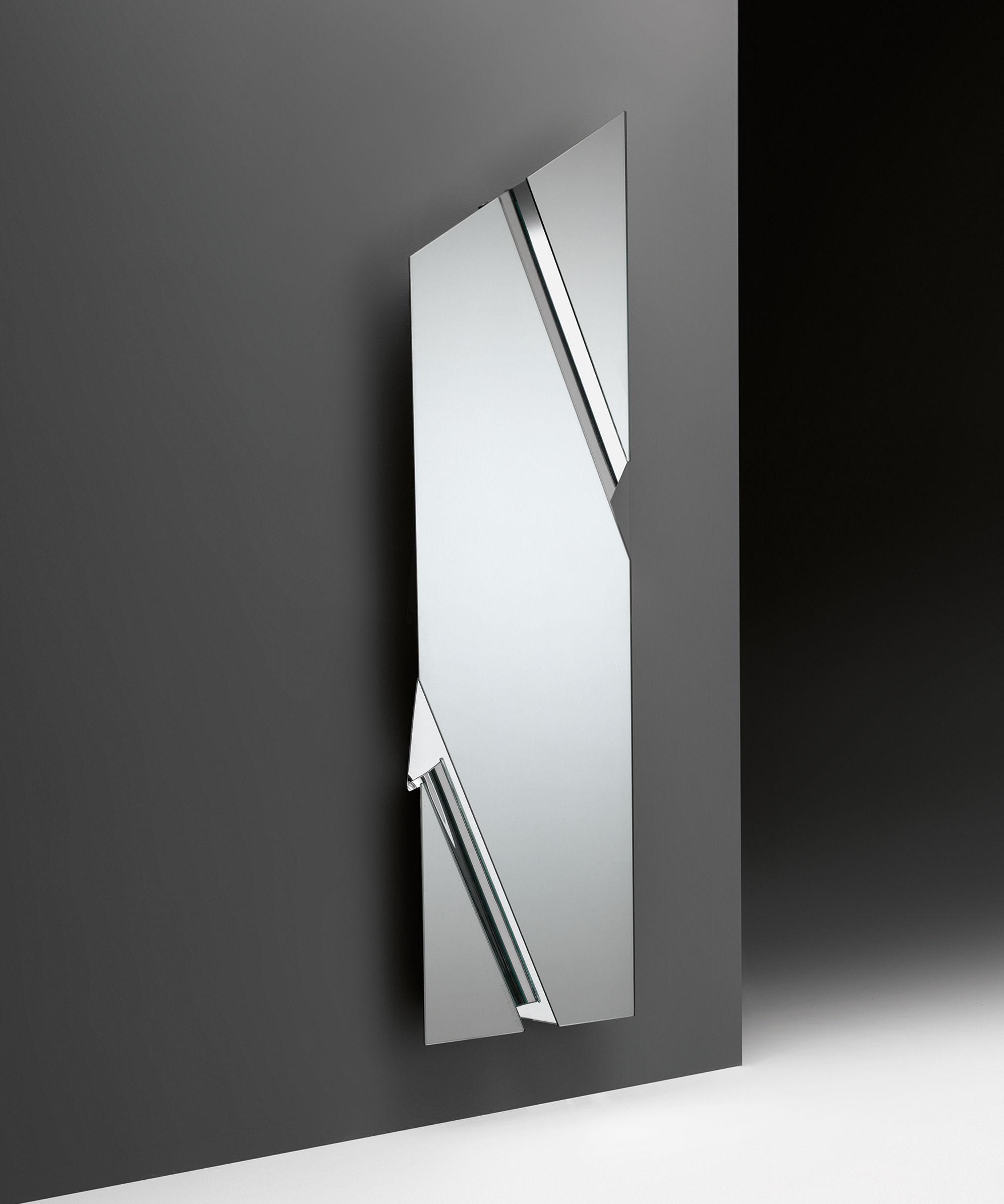 miroir the wing 200 x 53 cm miroir fiam. Black Bedroom Furniture Sets. Home Design Ideas