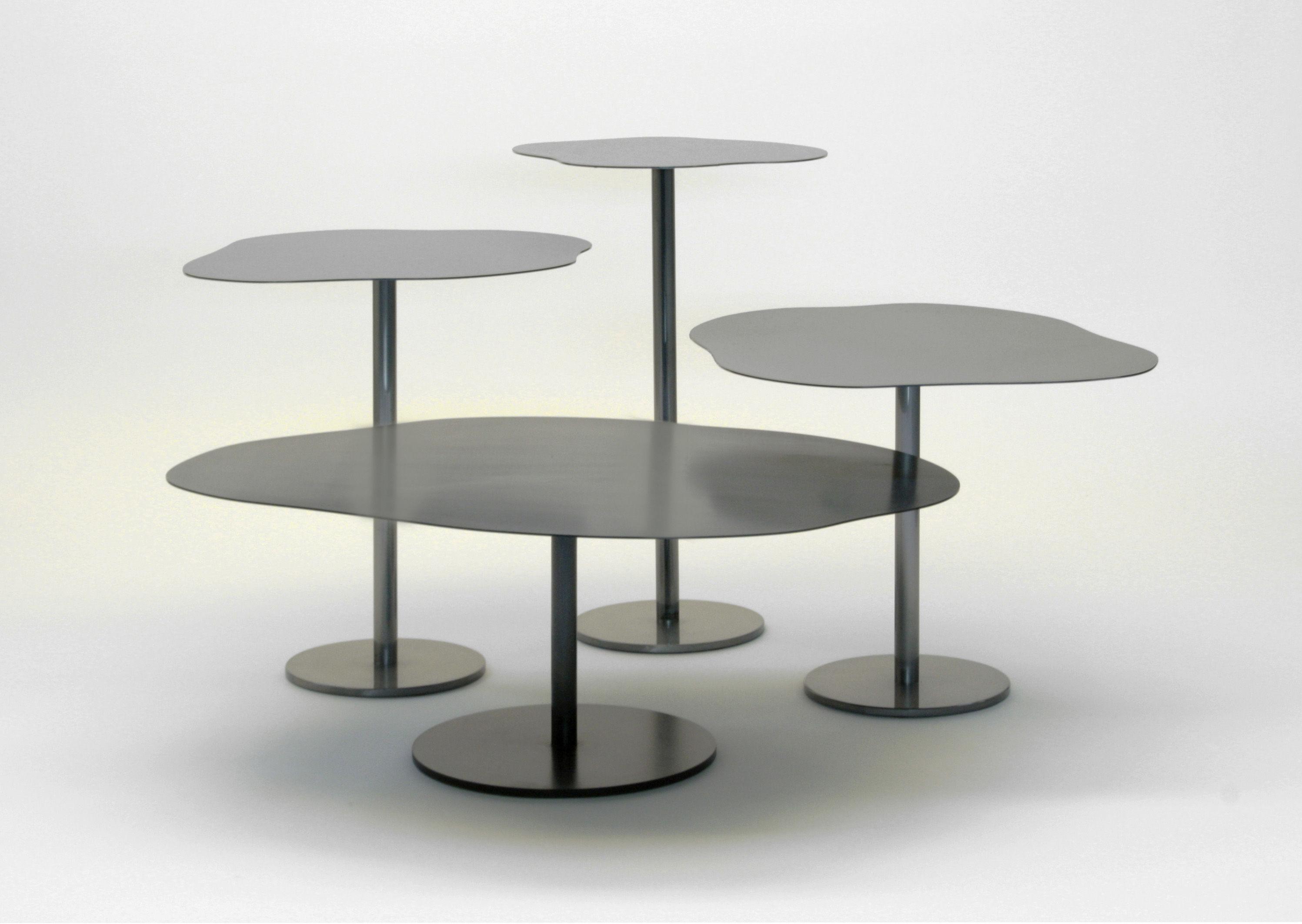 Table basse puddle 90 x 60 x h 32 cm noir phosphat zeus for Table cuisine 90 x 60