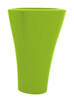 Pot de fleurs Ming Extra High H 140 cm - Serralunga vert pomme mat en matière plastique
