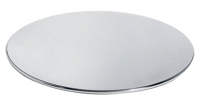 Tableware - Trays - Fruit basket Tray - Round Ø 42 cm by Alessi - Steel - Stainless steel