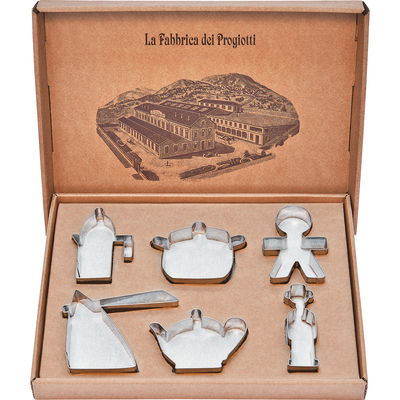 Cuisine - La cuisine s'amuse - Emporte-pièces Progiotti / Lot de 6 - A di Alessi - Argent - Acier