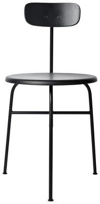 Mobilier - Chaises, fauteuils de salle à manger - Chaise Afteroom / Bois - Menu - Noir - Acier laqué, Contreplaqué, MDF