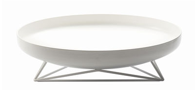 Centre de table Steel Vessels Medium / Vide-poche - Ø 42 cm - Th Manufacture blanc satiné en métal