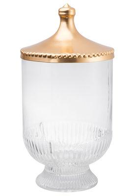 Boîte Caramelle / H 27 cm - Bitossi Home or,transparent en verre