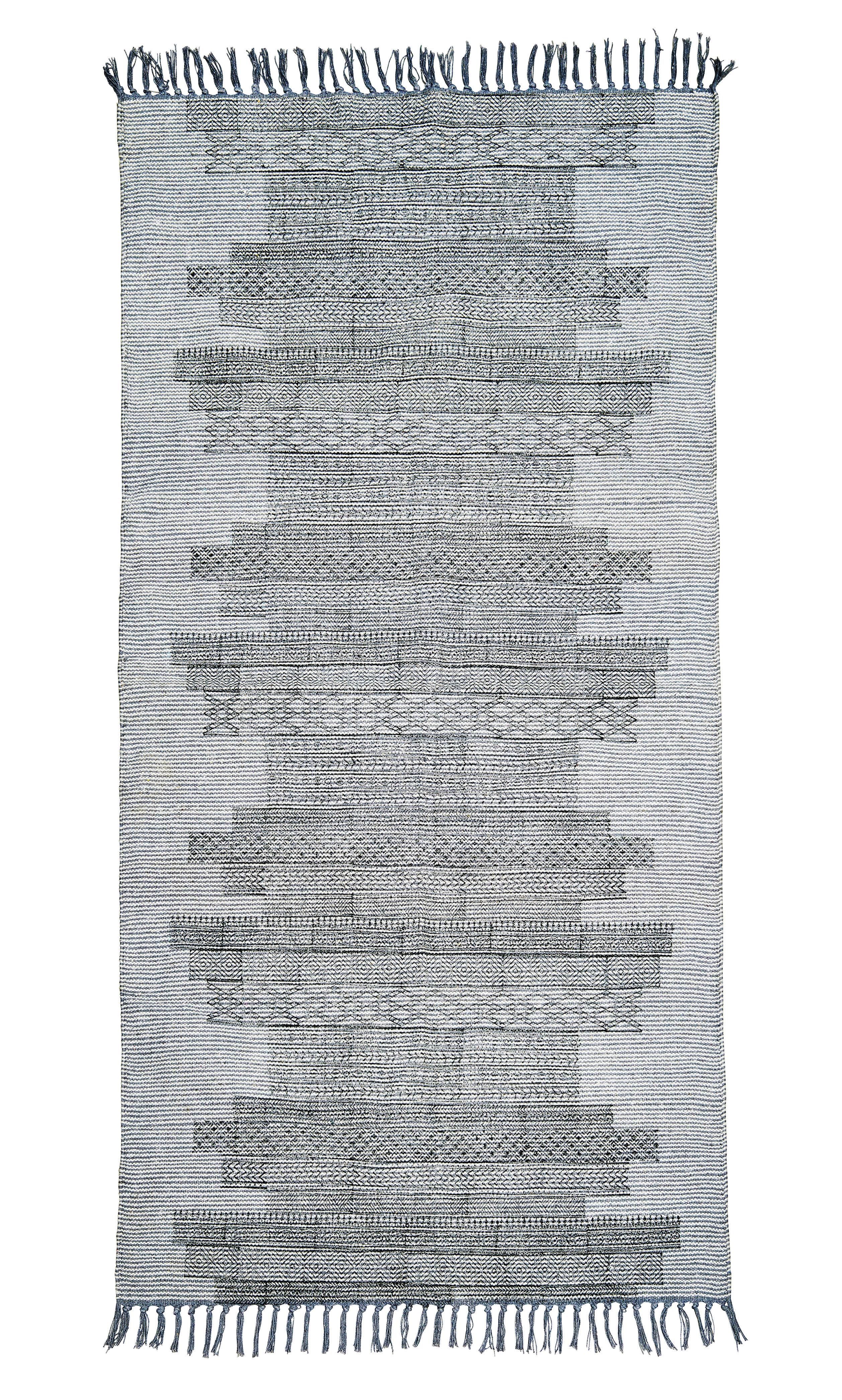 tapis karma 90 x 200 cm gris noir house doctor. Black Bedroom Furniture Sets. Home Design Ideas