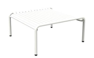 Table basse Week-end / 69 x 60 cm - Aluminium - Petite Friture blanc en métal