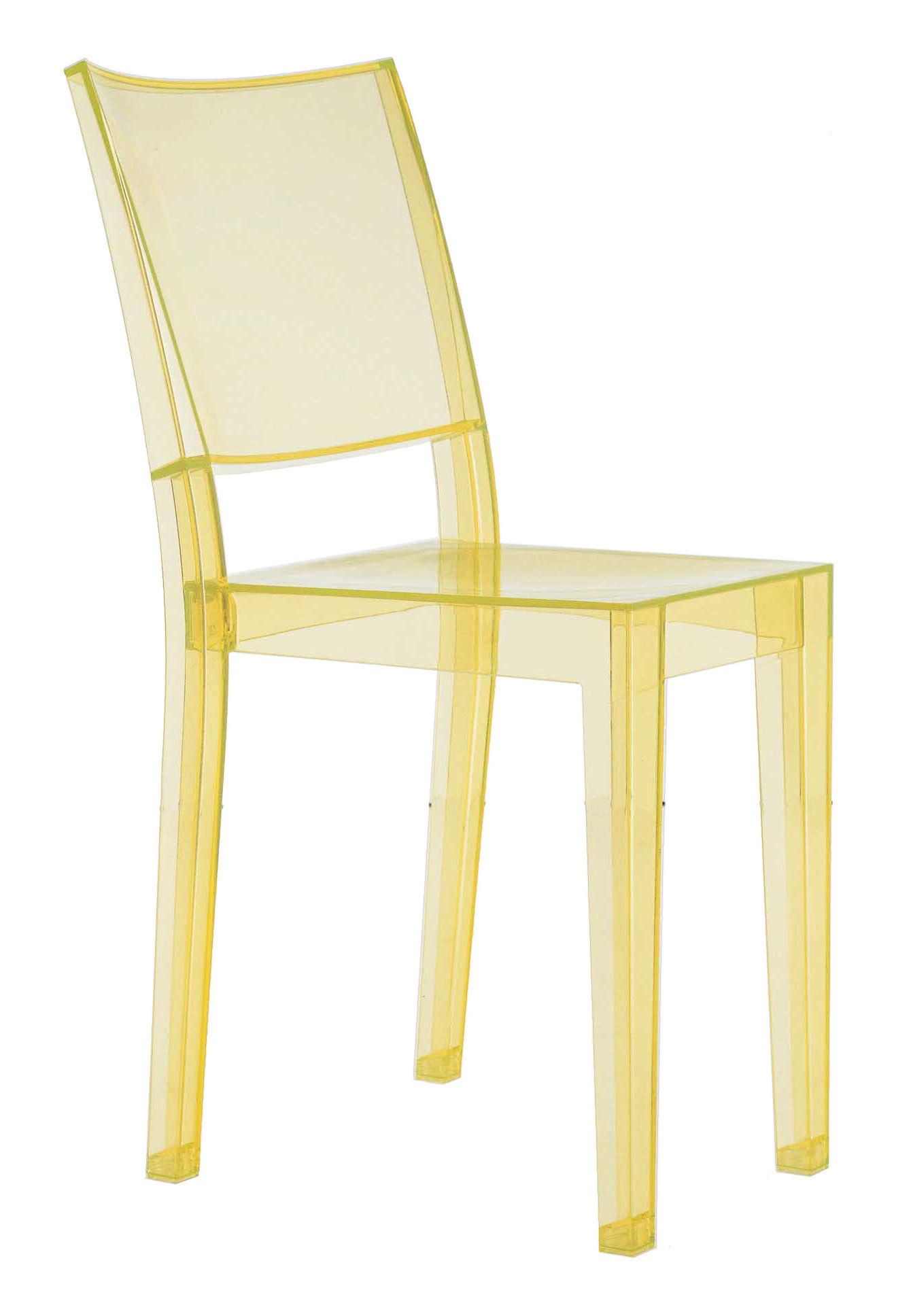 chaise empilable la marie polycarbonate jaune cidre kartell. Black Bedroom Furniture Sets. Home Design Ideas