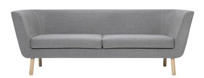 Divano angolare destro Nest / L 204 cm - Design House Stockholm - Grigio,Rovere - Tessuto