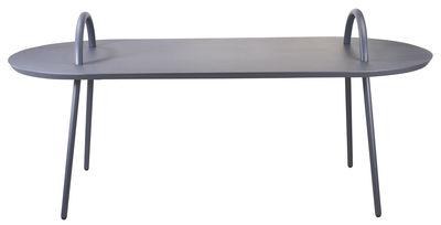 Swim Couchtisch / für innen und außen - 118 x 53 cm - Bibelo - Grau