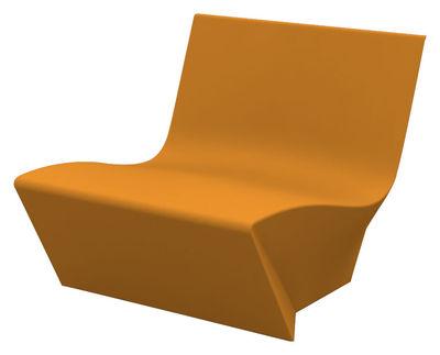 Poltrona bassa Kami Ichi di Slide - Arancione - Materiale plastico