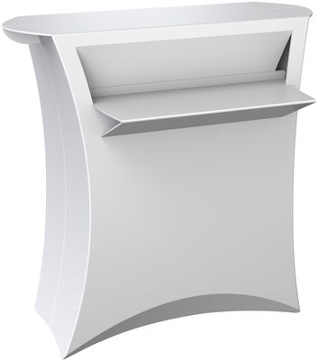 Mobilier - Mange-debout et bars - Bar Counter / L 100 cm x H 100 cm - Flux - Blanc - Polypropylène