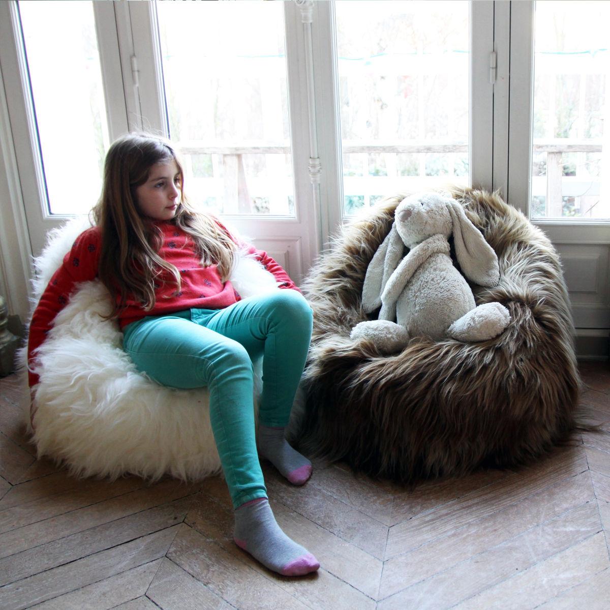 moumoute kid 55 cm echtes schaffell fab design sitzkissen. Black Bedroom Furniture Sets. Home Design Ideas