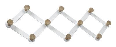 Image of Appendiabiti Daysign - / Estensibile - L 80 cm di Serax - Bianco,Rovere - Metallo