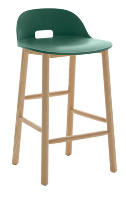 tabouret de bar alfi h 80 cm pi tement fr ne vert emeco. Black Bedroom Furniture Sets. Home Design Ideas