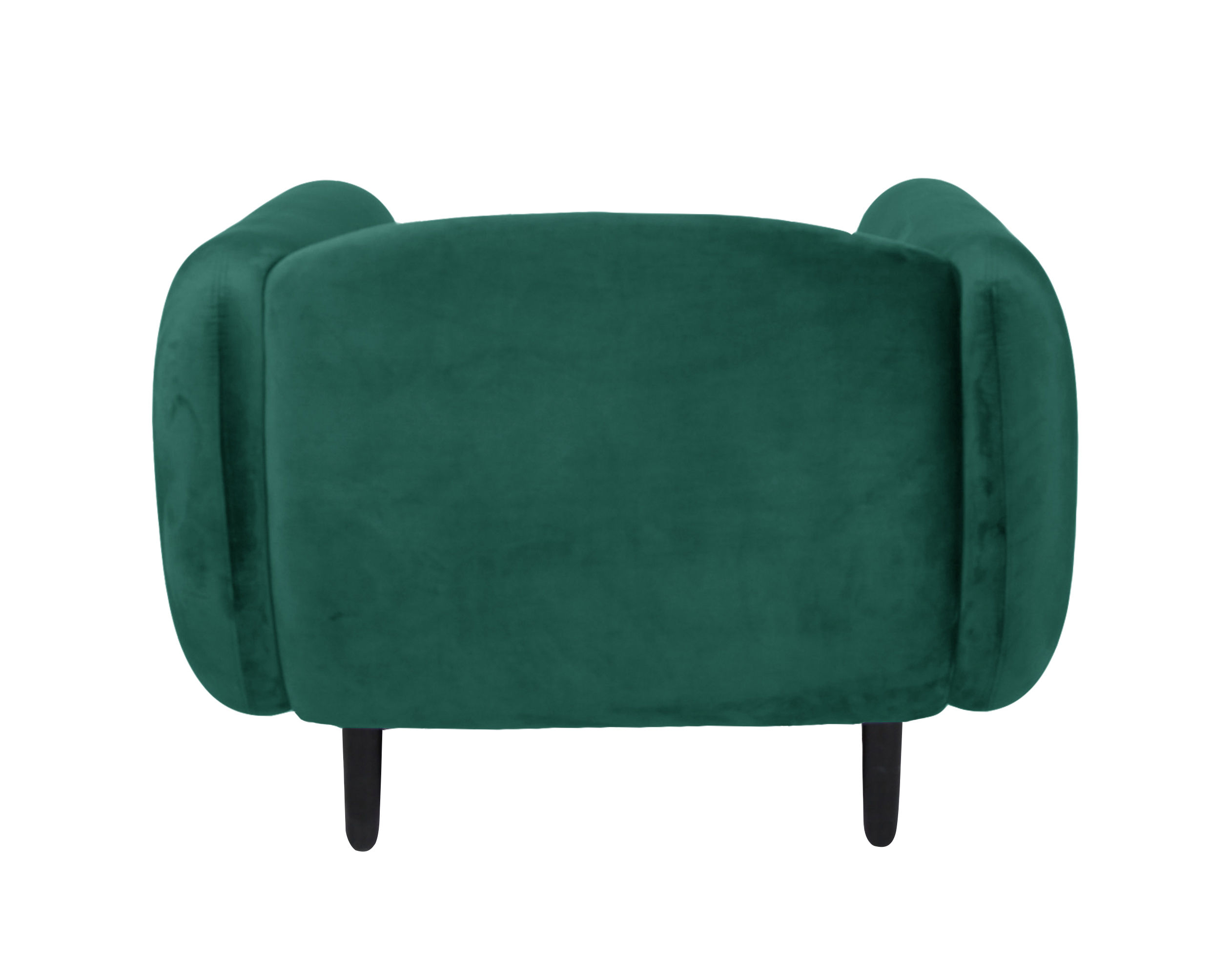 fauteuil rembourr mo ra velours velours vert canard enostudio made in design. Black Bedroom Furniture Sets. Home Design Ideas