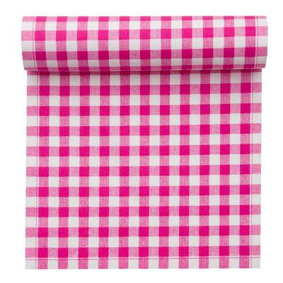 set de table my drap vichy rouleau de 12 sets de table en tissu pr d coup s vichy fuchsia. Black Bedroom Furniture Sets. Home Design Ideas