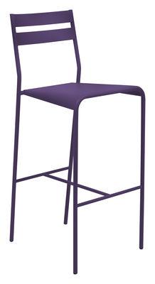 Chaise de bar Facto / H 75 cm - métal - Fermob Lin en Métal