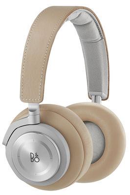 Casque audio BeoPlay H7 Bluetooth Cuir véritable B O PLAY by Bang Olufsen aluminium,beige en métal