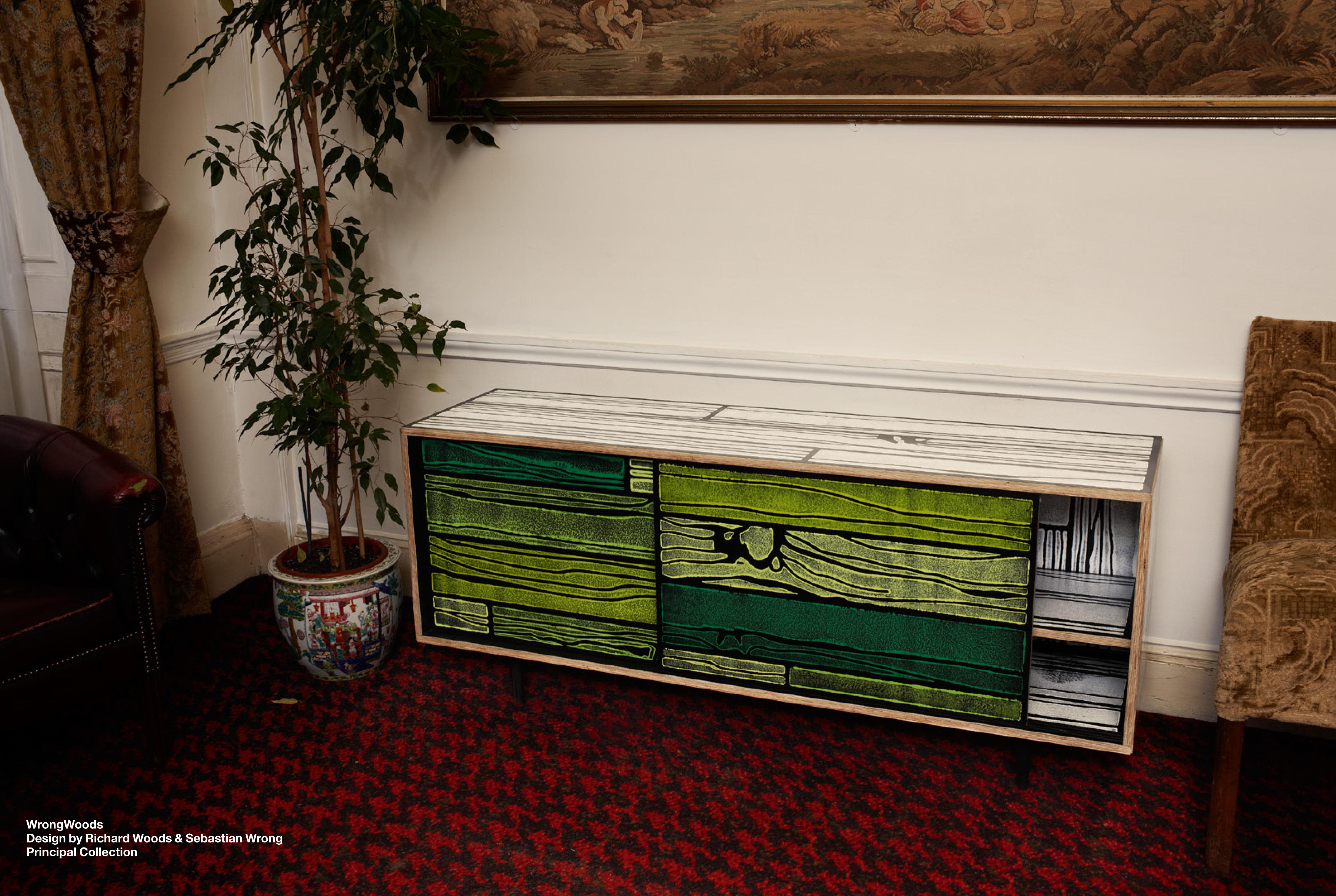 commode wrongwoods noir et blanc established sons. Black Bedroom Furniture Sets. Home Design Ideas