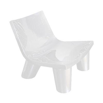 Foto Poltrona bassa Low Lita - versione laccata di Slide - Laccato bianco - Materiale plastico