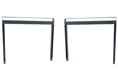 Paire de tréteaux Pi / Pour l´intérieur - Moaroom gris canon de fusil en métal